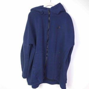 Nike Mens Hoodie Blue Full Zip Up Long Sleeves
